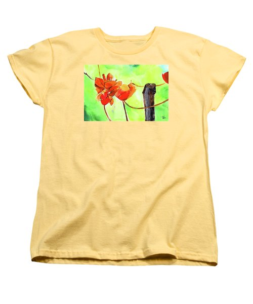 Women's T-Shirt (Standard Cut) featuring the painting Bound Yet Free by Anil Nene