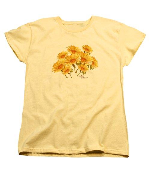 Bouquet Of Daisies Women's T-Shirt (Standard Cut) by Angeles M Pomata