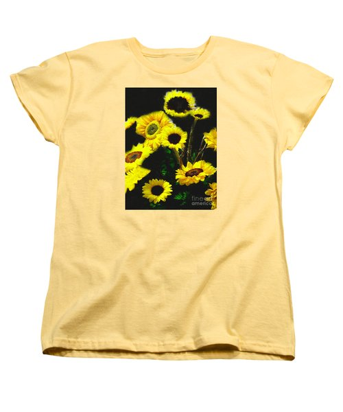 Bouquet Of Sunflowers Women's T-Shirt (Standard Cut) by Merton Allen