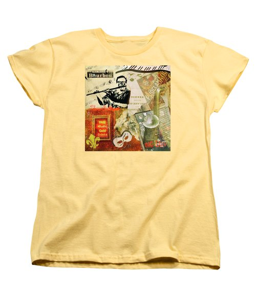 Bourbon Street Collage Women's T-Shirt (Standard Cut)