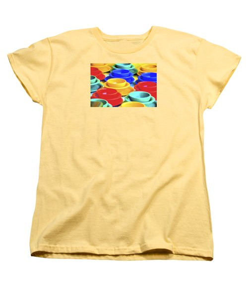 Women's T-Shirt (Standard Cut) featuring the photograph Bowls In The Window by Tom Singleton