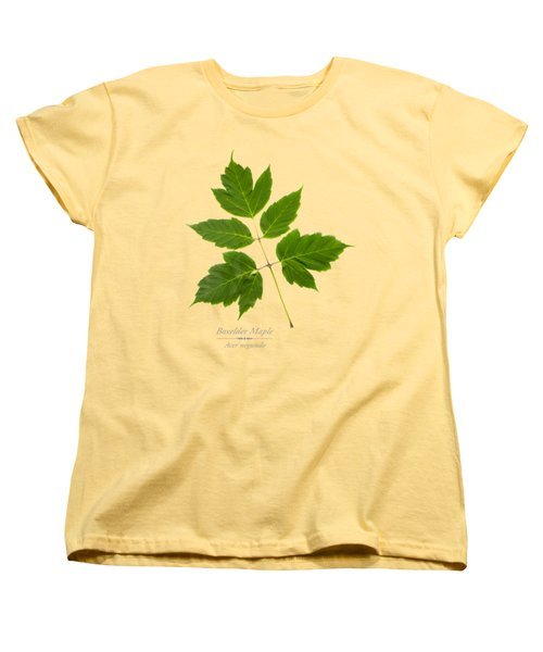 Box Elder Maple Women's T-Shirt (Standard Cut) by Christina Rollo
