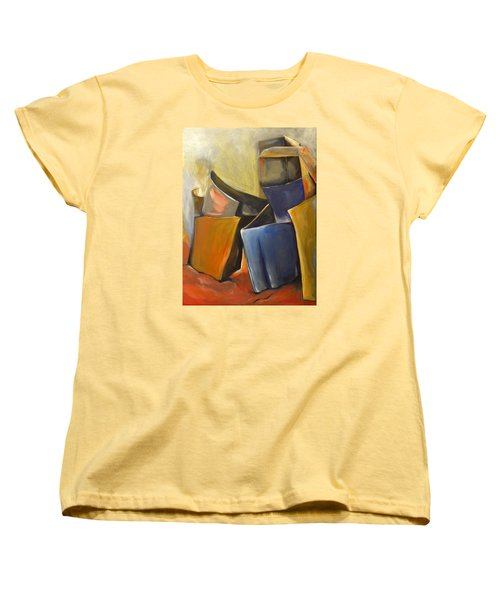 Women's T-Shirt (Standard Cut) featuring the painting Box Scape by Nadine Dennis