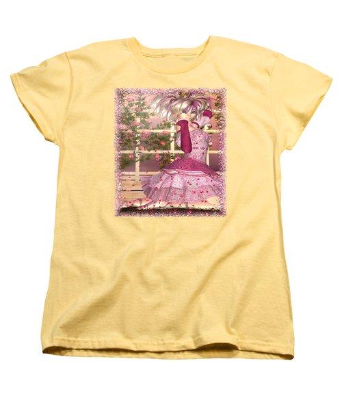 Breath Of Rose Fantasy Elf Women's T-Shirt (Standard Cut) by Sharon and Renee Lozen