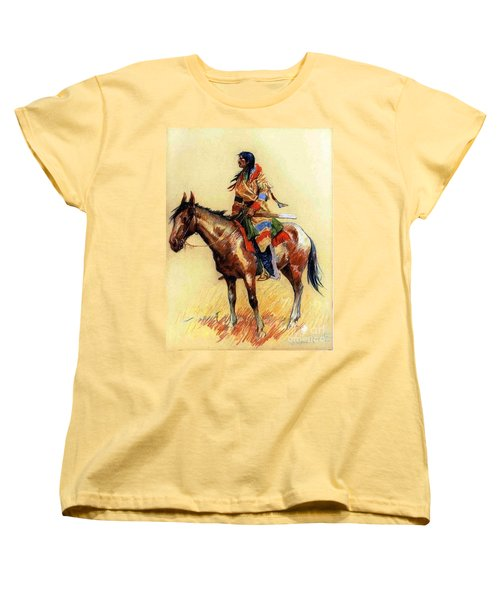 Women's T-Shirt (Standard Cut) featuring the painting Breed by Pg Reproductions