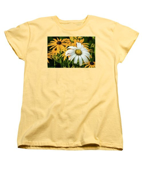 Women's T-Shirt (Standard Cut) featuring the photograph Bride And Bridesmaids by Bill Pevlor