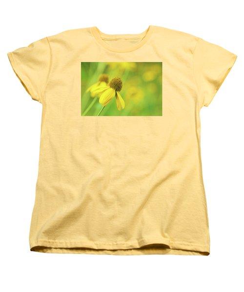 Bright Yellow Flower Women's T-Shirt (Standard Cut) by David Stasiak
