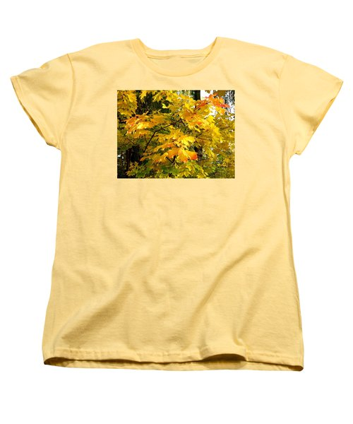 Women's T-Shirt (Standard Cut) featuring the photograph Brilliant Maple Leaves by Will Borden