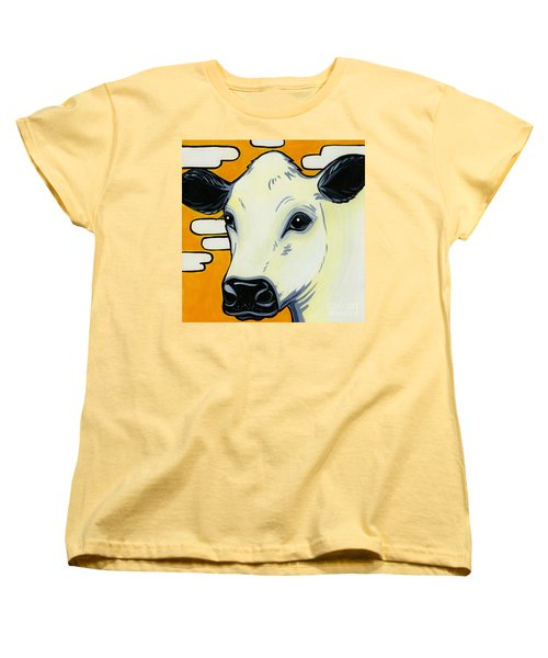 British White Women's T-Shirt (Standard Cut) by Leanne Wilkes