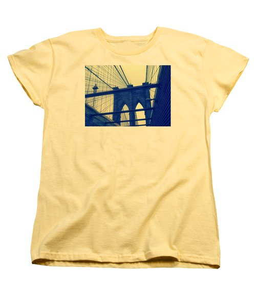 New York City's Famous Brooklyn Bridge Women's T-Shirt (Standard Cut) by Paulo Guimaraes