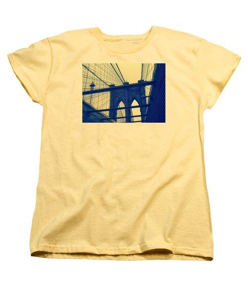 New York City's Famous Brooklyn Bridge Women's T-Shirt (Standard Cut)