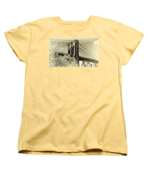 Brooklyn Bridge Women's T-Shirt (Standard Cut) by John Hoey
