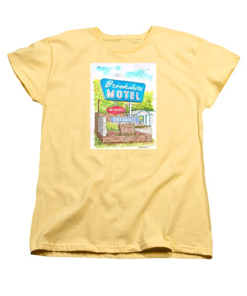 Brookshire Motel In Route 66, Tulsa, Oklahoma Women's T-Shirt (Standard Cut) by Carlos G Groppa