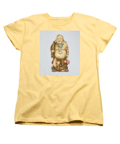 Women's T-Shirt (Standard Cut) featuring the mixed media Buddha by TortureLord Art