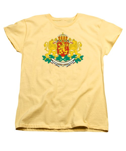 Women's T-Shirt (Standard Cut) featuring the drawing Bulgaria Coat Of Arms by Movie Poster Prints