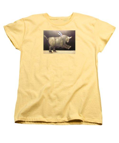 bull painting Botero Women's T-Shirt (Standard Cut) by Ted Pollard