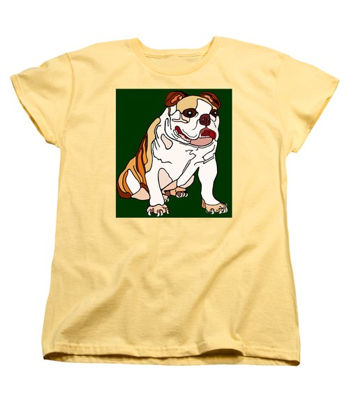 Bulldog Women's T-Shirt (Standard Cut) by Marian Cates