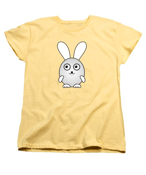 Bunny - Animals - Art For Kids Women's T-Shirt (Standard Cut) by Anastasiya Malakhova
