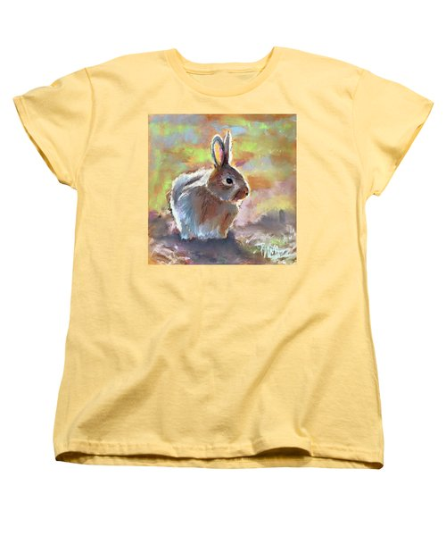 Women's T-Shirt (Standard Cut) featuring the pastel Bunny by Pattie Wall