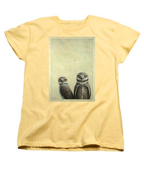 Burrowing Owls Women's T-Shirt (Standard Cut) by James W Johnson