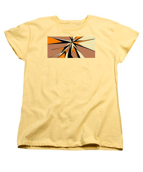 Burst Of Orange 2 Women's T-Shirt (Standard Cut) by Linda Velasquez