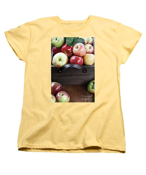Bushel Of Apples  Women's T-Shirt (Standard Cut) by Stephanie Frey