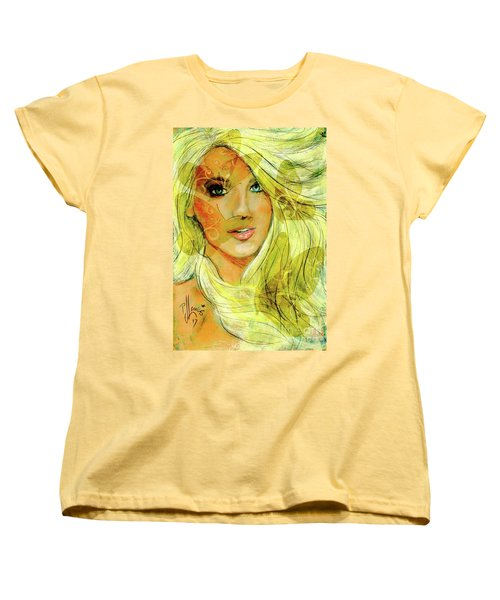 Butterfly Blonde Women's T-Shirt (Standard Cut) by P J Lewis