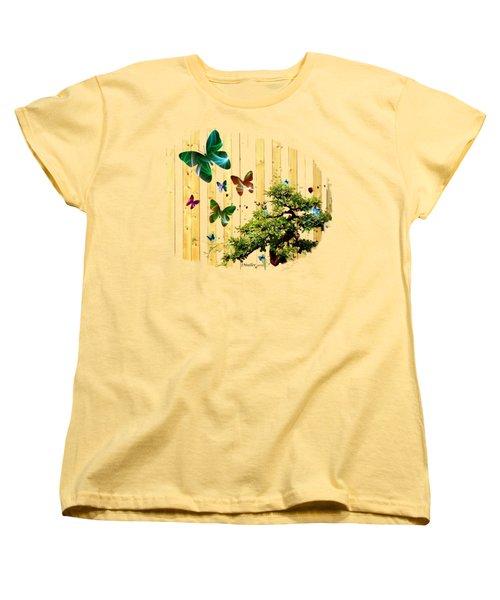 Butterfly Garden Women's T-Shirt (Standard Cut) by Jennifer Muller