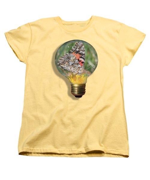 Butterfly In A Bulb II Women's T-Shirt (Standard Cut) by Shane Bechler