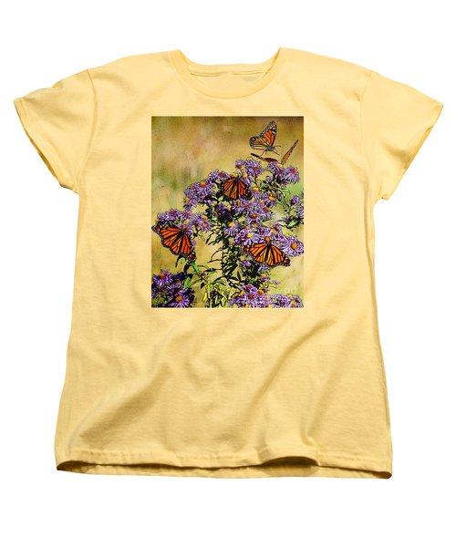 Butterfly Party Women's T-Shirt (Standard Cut) by Diane E Berry