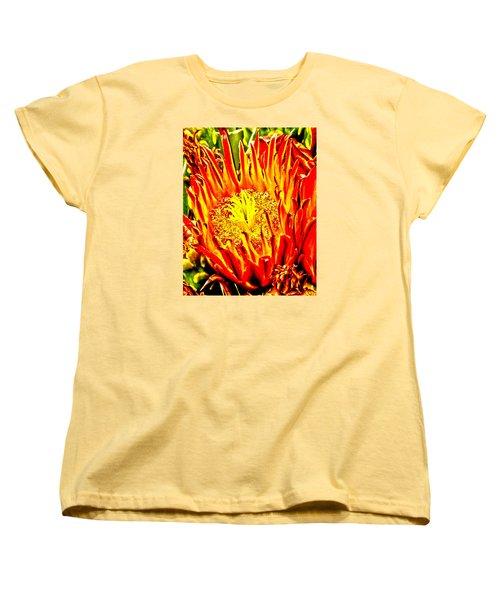 Cactus Flower Women's T-Shirt (Standard Cut) by Judi Saunders