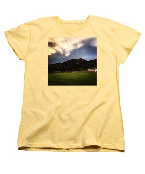 Women's T-Shirt (Standard Cut) featuring the photograph Cadet Soccer Stadium by Christin Brodie