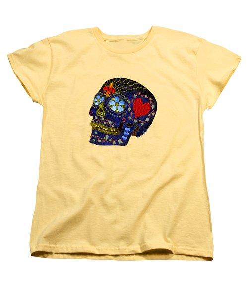 Calavera Del Azucar Women's T-Shirt (Standard Cut) by Iowan Stone-Flowers