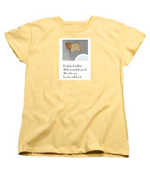 Women's T-Shirt (Standard Cut) featuring the digital art Calico Cow by Graham Harrop