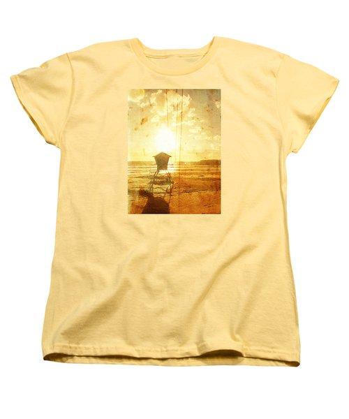 Californian Lifeguard Cabin Women's T-Shirt (Standard Cut) by Andrea Barbieri