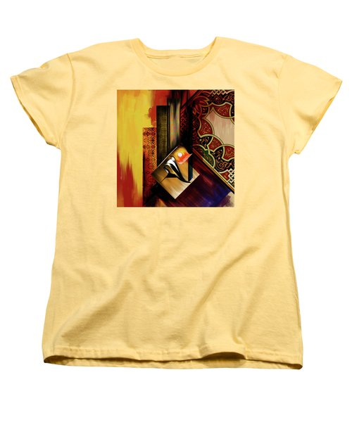 Women's T-Shirt (Standard Cut) featuring the painting Calligraphy 102  2 1 by Mawra Tahreem