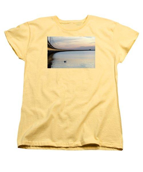 Calm Evening By The Bridge Women's T-Shirt (Standard Cut) by Kennerth and Birgitta Kullman