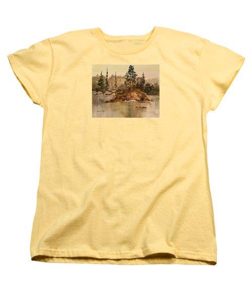 Calm Waters Women's T-Shirt (Standard Cut) by Larry Hamilton