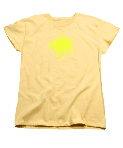 Canary Yellow Solid Color Decor Women's T-Shirt (Standard Cut) by Garaga Designs