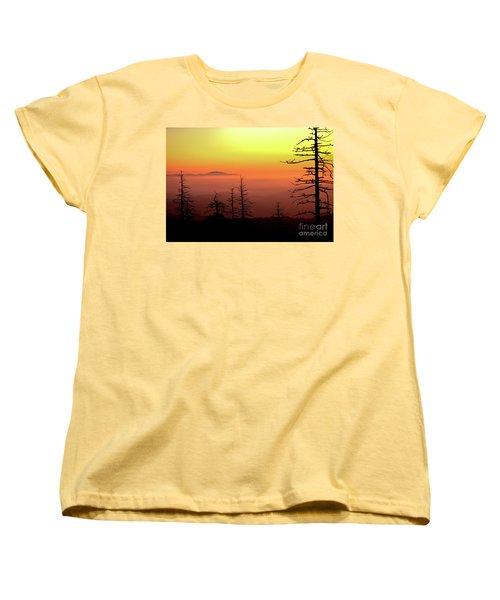 Women's T-Shirt (Standard Cut) featuring the photograph Candy Corn Sunrise by Douglas Stucky