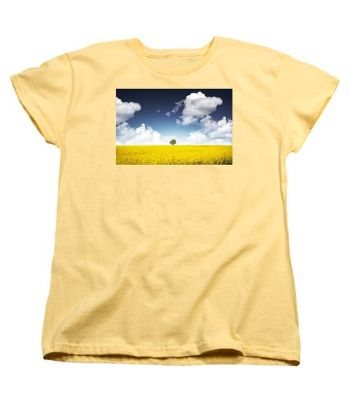 Canola Field Women's T-Shirt (Standard Cut) by Bess Hamiti