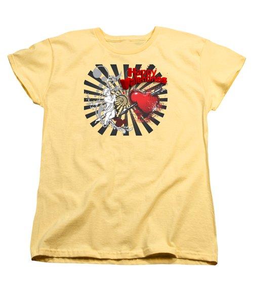 Card Valentine Cherub Women's T-Shirt (Standard Cut)