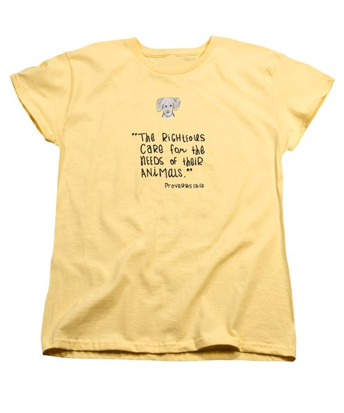 Care For Animals Women's T-Shirt (Standard Cut)