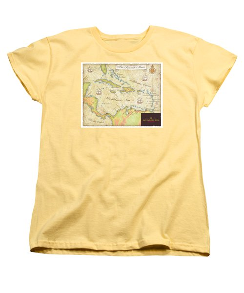 Caribbean Map II Women's T-Shirt (Standard Cut) by Unknown