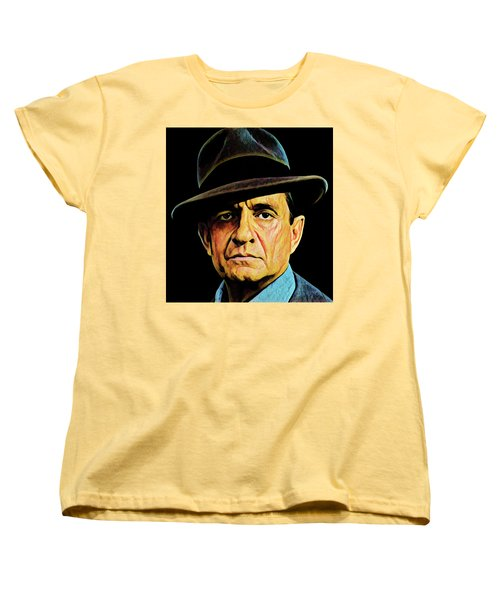 Cash With Hat Women's T-Shirt (Standard Cut)
