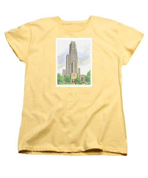 Cathedral Of Learning Women's T-Shirt (Standard Cut) by Val Miller