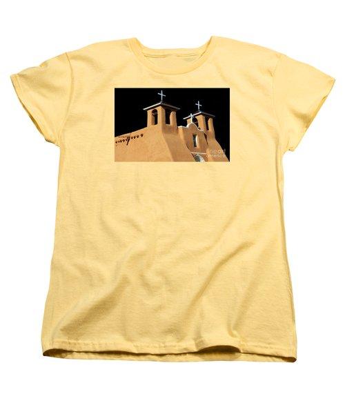 Women's T-Shirt (Standard Cut) featuring the photograph St Francis De Assi Church  New Mexico by Bob Christopher