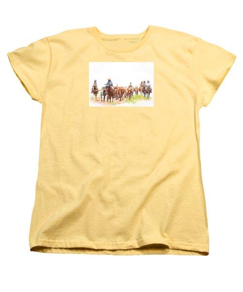 Cattle Drive Women's T-Shirt (Standard Cut) by David and Carol Kelly