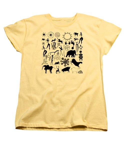 Cave Painting Women's T-Shirt (Standard Cut) by Michal Boubin