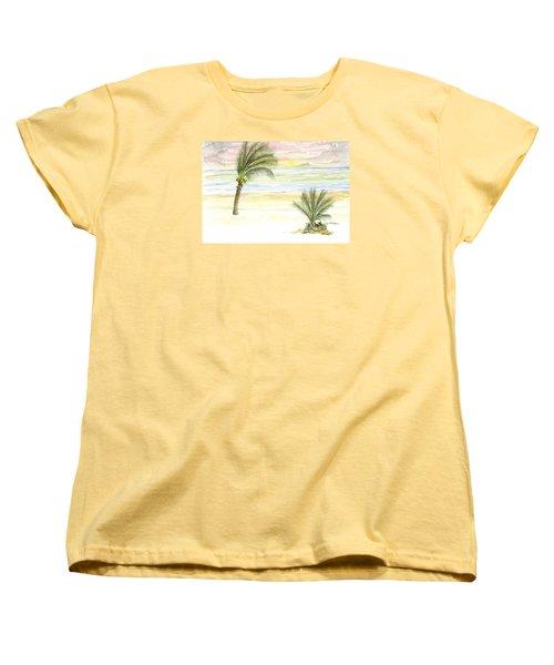 Cayman Beach Women's T-Shirt (Standard Cut) by Darren Cannell